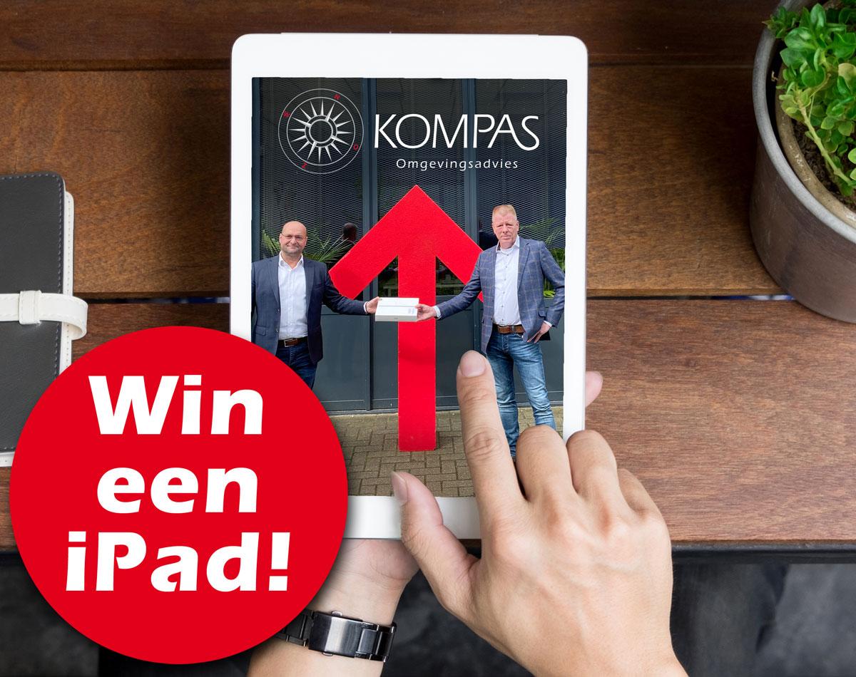 Kompas win een iPad